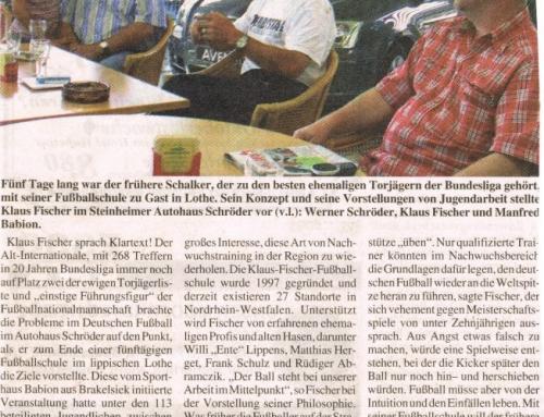 2004 Fußballschule Klaus Fischer das 1. Mal bei uns zu Gast